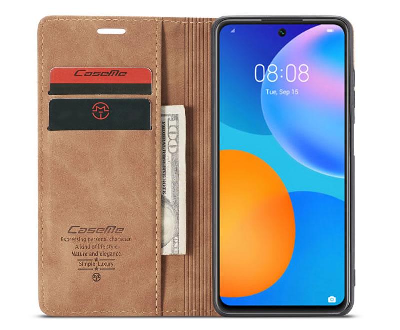 CaseMe Huawei P Smart 2021 Leather Wallet Case