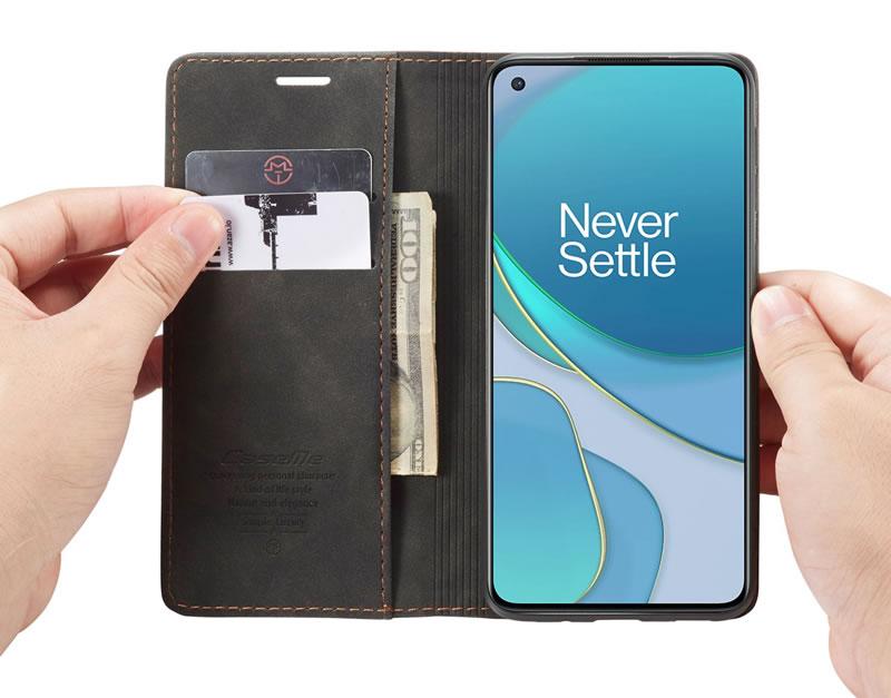 CaseMe OnePlus 8T Leather Wallet Case