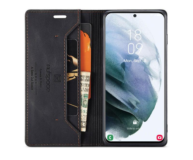 AutSpace Samsung Galaxy S21 Plus Leather Wallet Case