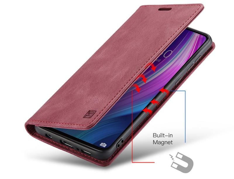 AutSpace Xiaomi Redmi Note 8 Pro Leather Wallet Case