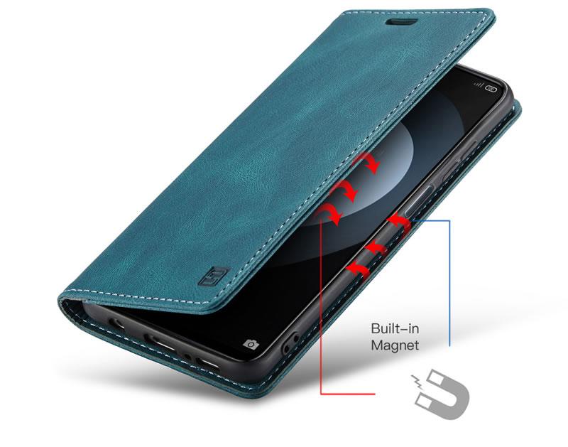 AutSpace Xiaomi Redmi Note 9s Leather Wallet Case
