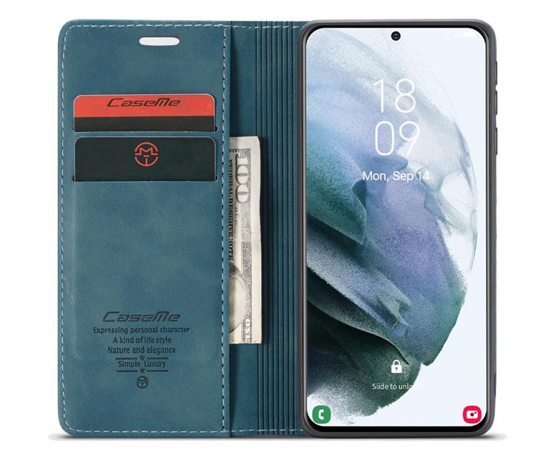 CaseMe Samsung Galaxy S21 Leather Wallet Case