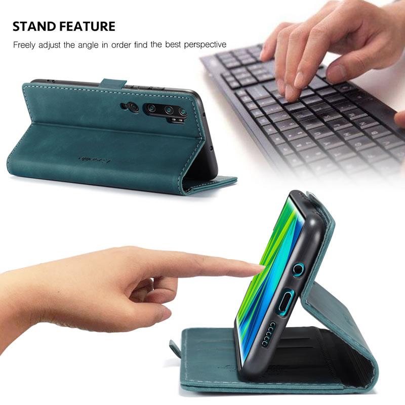 CaseMe Xiaomi Mi Note 10 Pro Leather Wallet Case