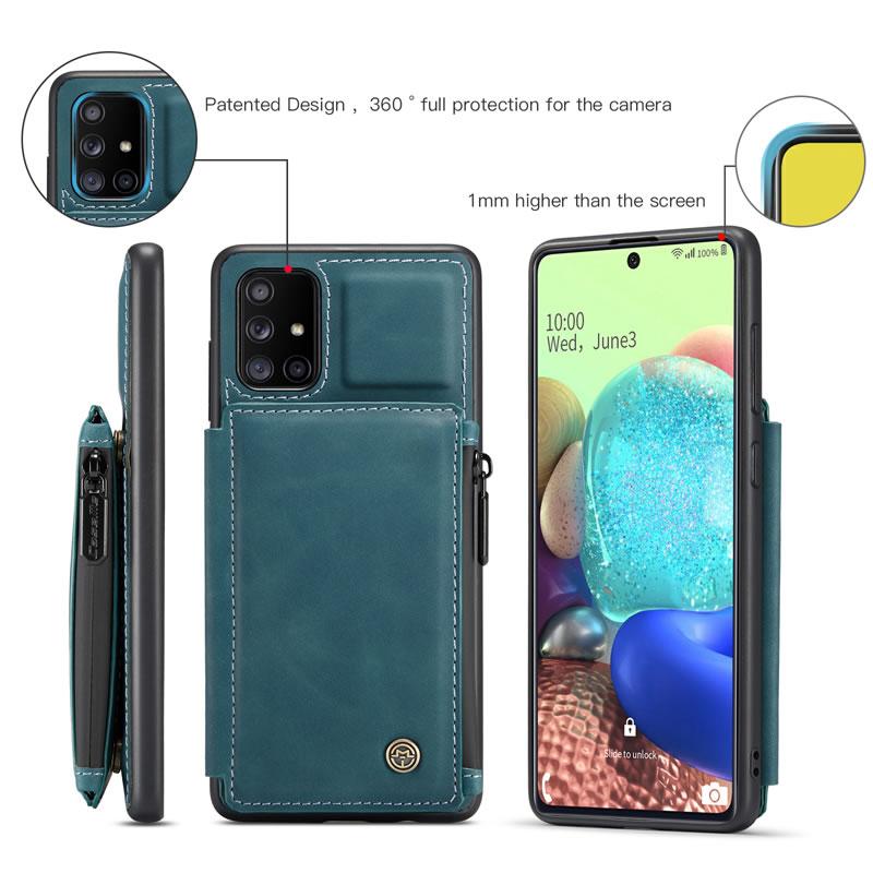 CaseMe Samsung Galaxy A71 Leather Wallet Case