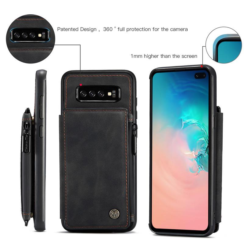 CaseMe Samsung Galaxy S10 Plus Leather Wallet Case