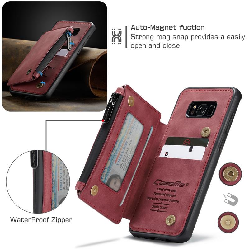 CaseMe Samsung Galaxy S8 Leather Wallet Case