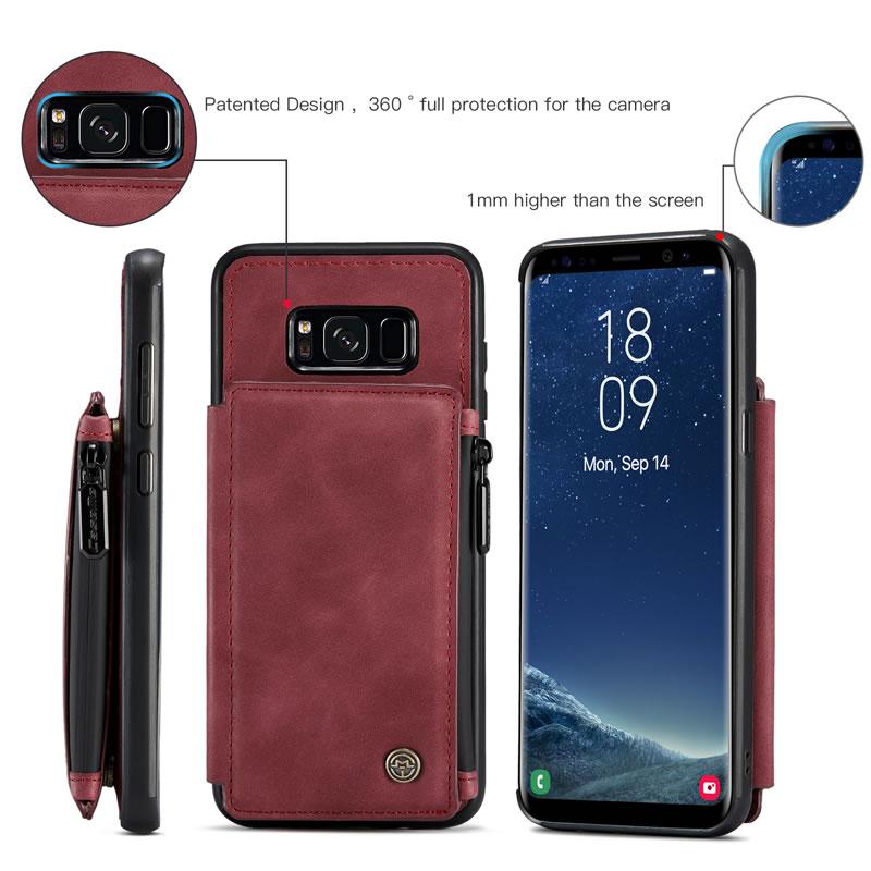 CaseMe Samsung Galaxy S8 Plus Leather Wallet Case