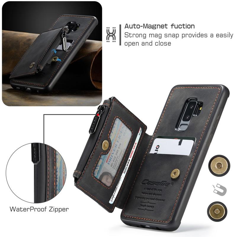 CaseMe Samsung Galaxy S9 Plus Leather Wallet Case
