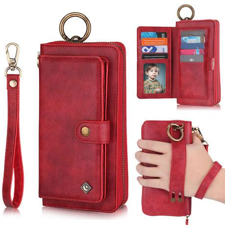 SUMOON Samsung Galaxy S21 Ultra Purse,Crossbody Lanyard Case Zipper Wallet Pu Leather Flip Folio Cover with Card Holder Shoulder /& Wrist Strap Coin Pouch S21 Ultra 5G Wallet Purse Fold Case Pink
