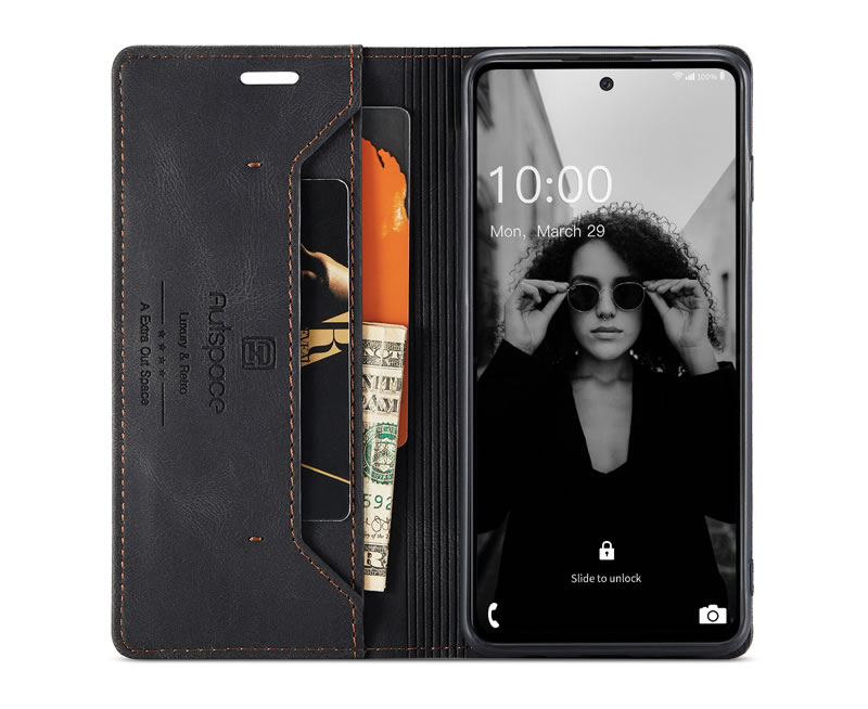 AutSpace Samsung Galaxy A52 5G Leather Wallet Case