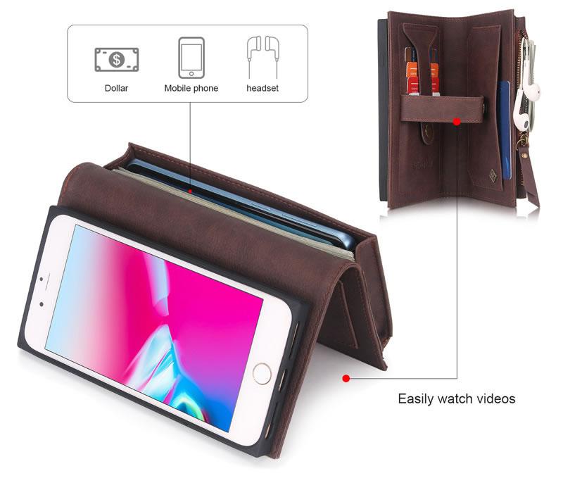 POLA iPhone 8 Plus Wallet Case