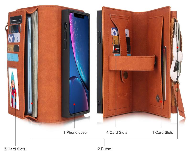 POLA iPhone XR Wallet Case