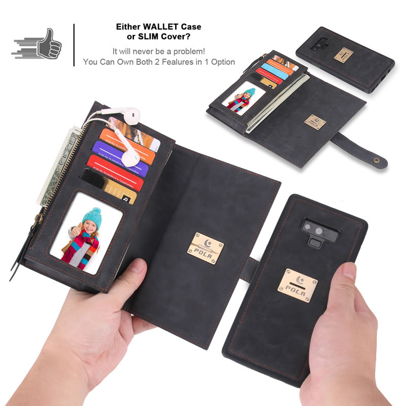 POLA Samsung Galaxy Note 9 Wallet Case