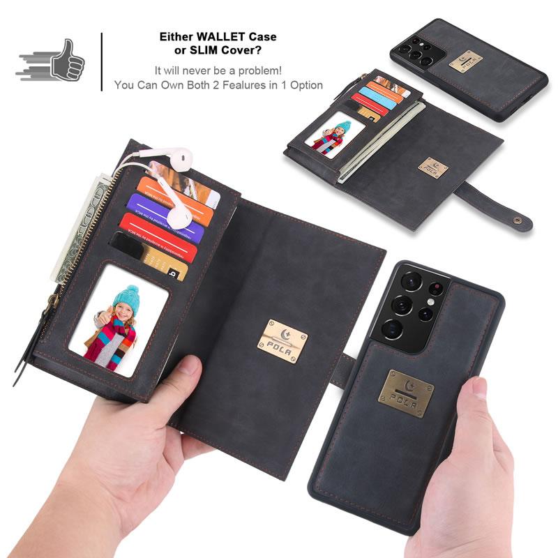 POLA Samsung Galaxy S21 Plus Wallet Case