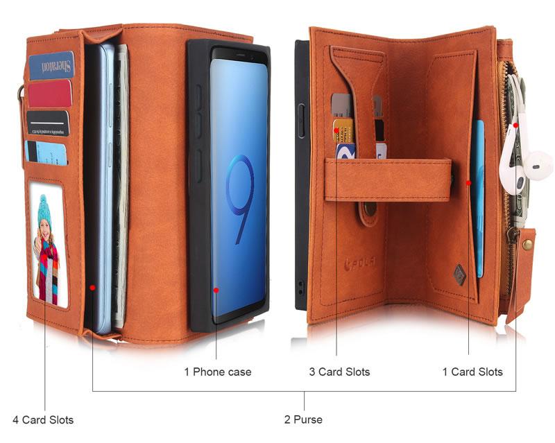 POLA Samsung Galaxy S9 Wallet Case