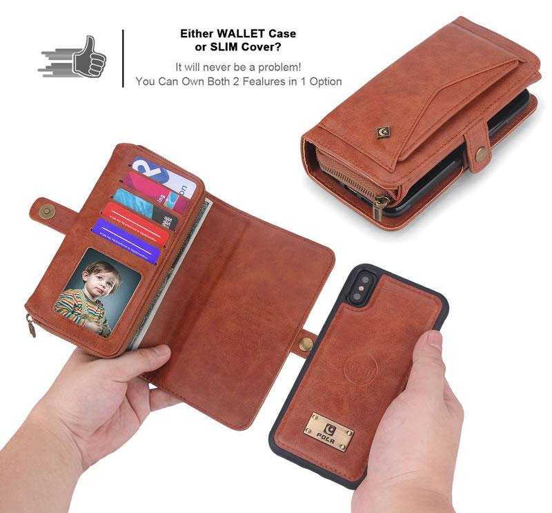 POLA iPhone XS Wallet Case