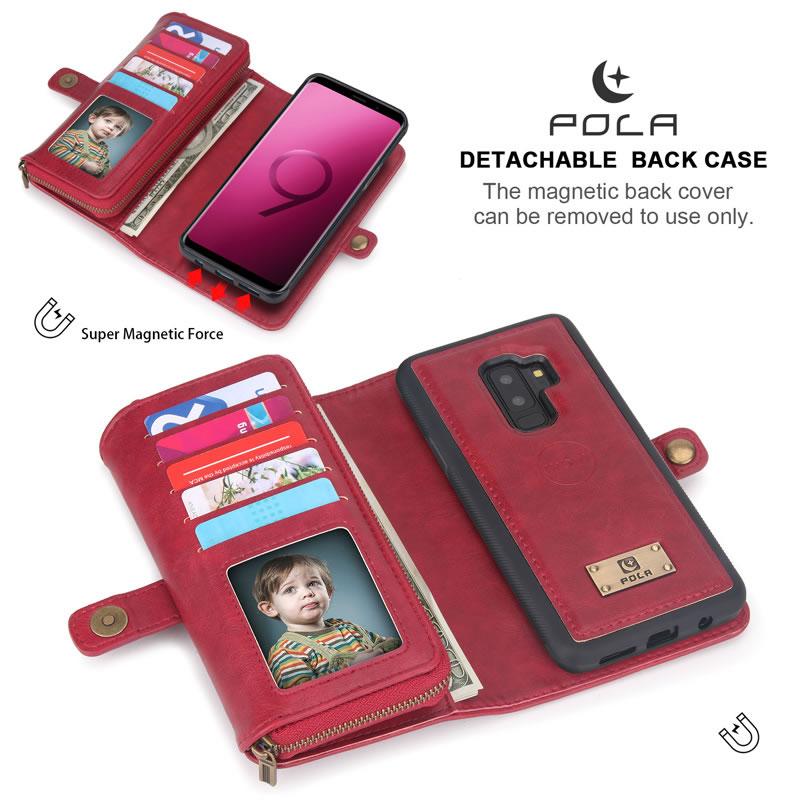 POLA Samsung Galaxy S9 Plus Wallet Case