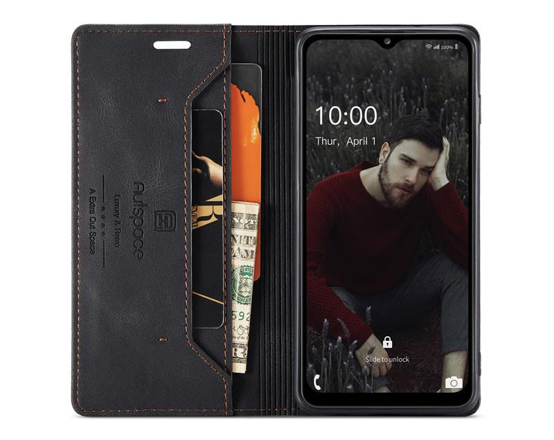 AutSpace Samsung Galaxy A32 5G Leather Wallet Case