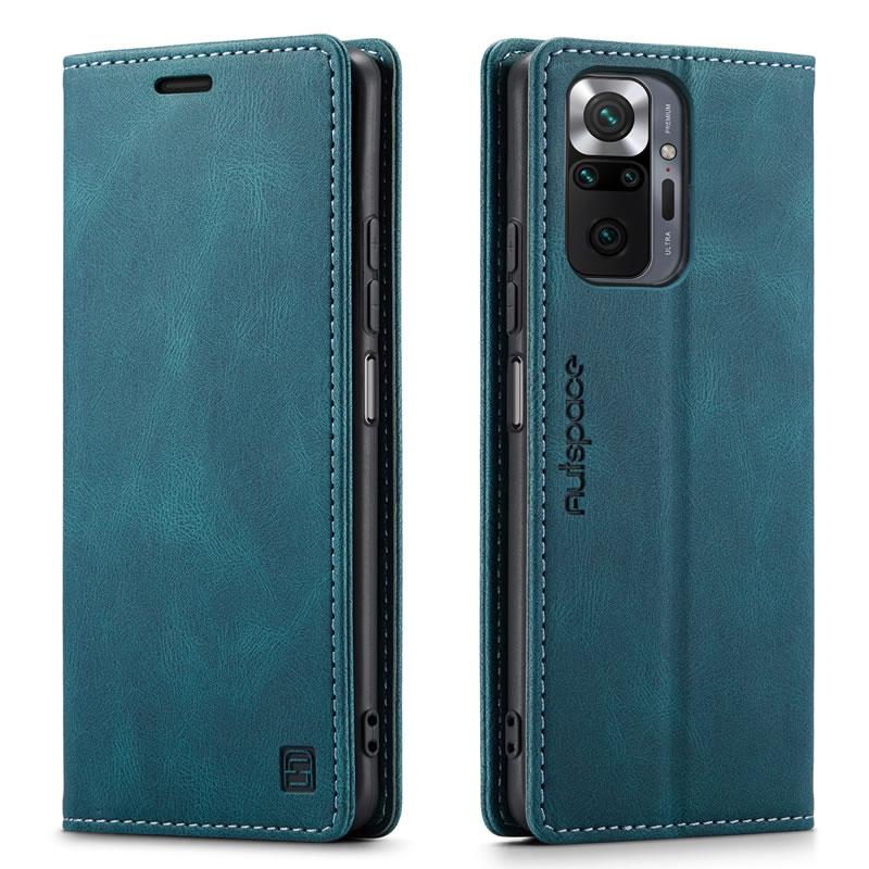AutSpace Xiaomi Redmi Note 10 Pro Max Leather Wallet Case