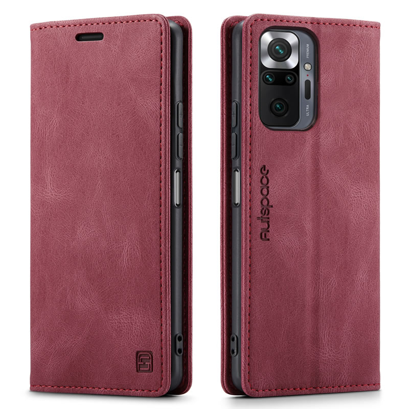AutSpace Xiaomi Redmi Note 10 Pro Leather Wallet Case