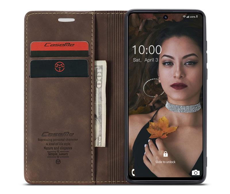 CaseMe Samsung Galaxy M51 Leather Wallet Case