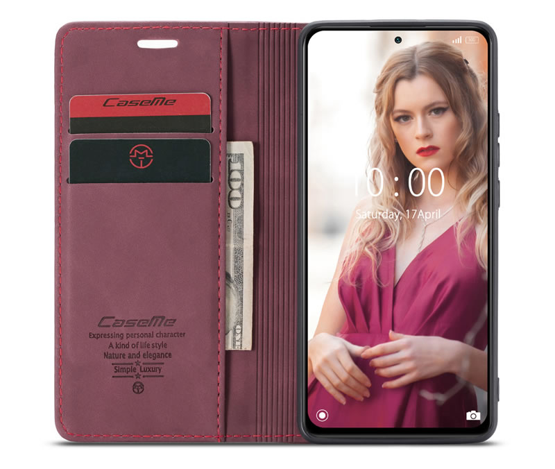 CaseMe Xiaomi Redmi Note 10 Pro Leather Wallet Case