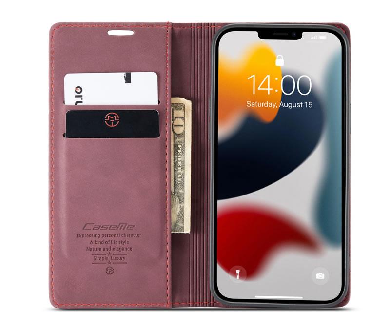 CaseMe iPhone 13 Leather Wallet Case