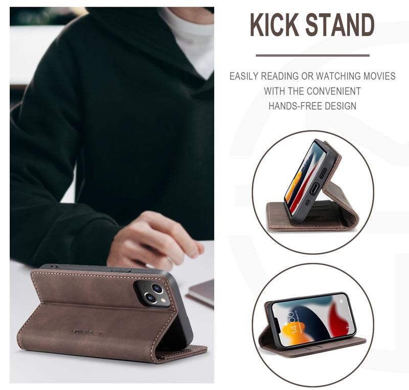 CaseMe iPhone 13 Mini Leather Wallet Case