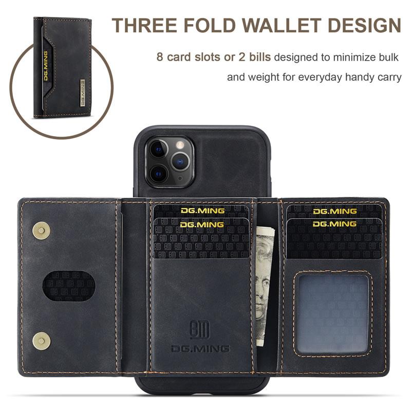 DG.MING iPhone 11 Pro Leather Wallet Case
