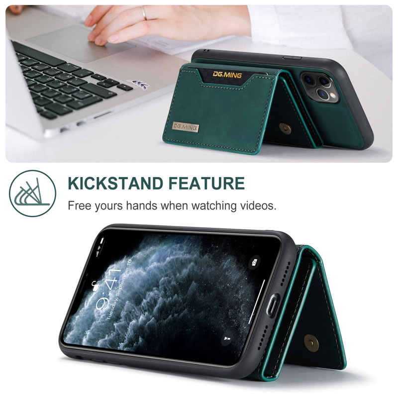 DG.MING iPhone 11 Pro Max Leather Wallet Case