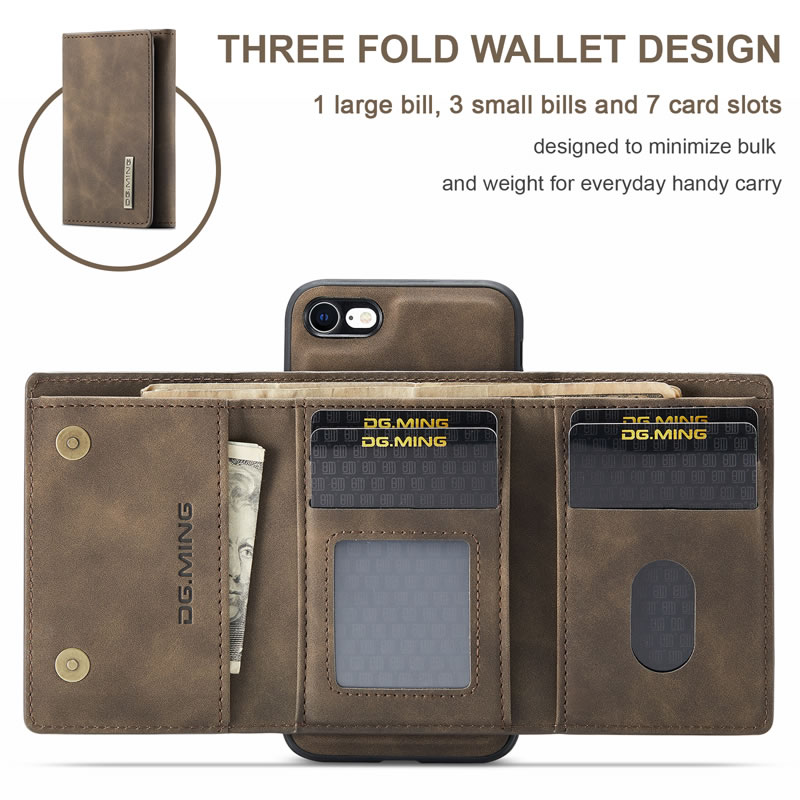 DG.MING iPhone 7 Leather Wallet Case