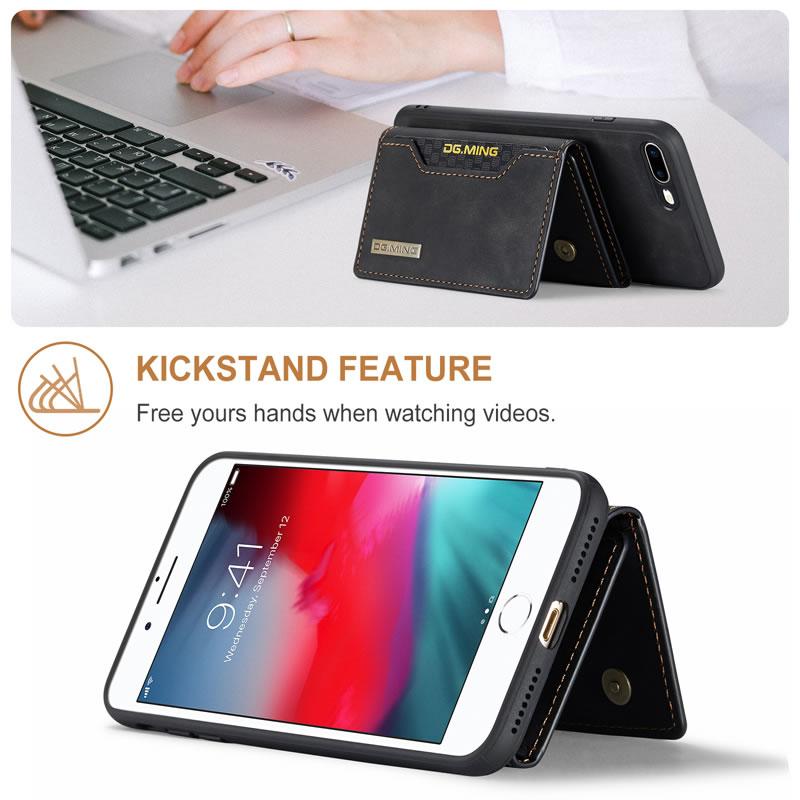 DG.MING iPhone 8 Plus Leather Wallet Case