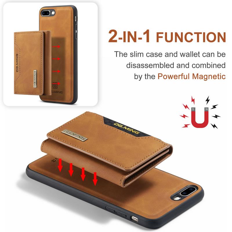 DG.MING iPhone 7 Plus Leather Wallet Case