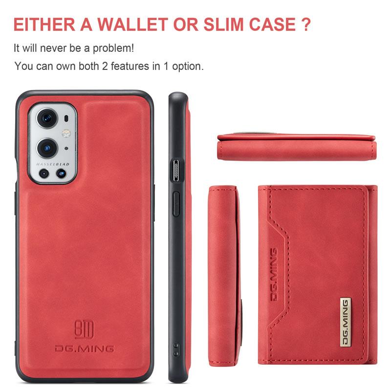 DG.MING OnePlus 9 Pro Leather Wallet Case