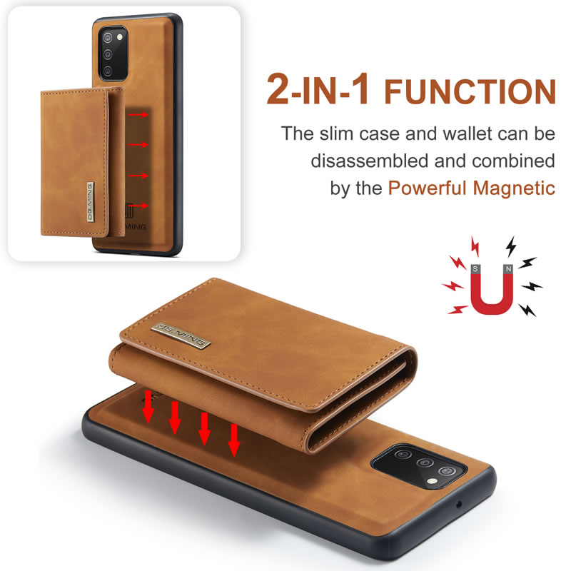DG.MING Samsung Galaxy A02S 5G Leather Wallet Case