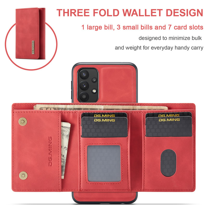 DG.MING Samsung Galaxy A32 5G Leather Wallet Case