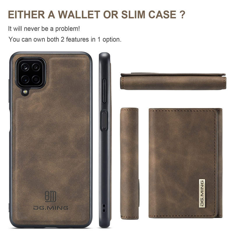 DG.MING Samsung Galaxy A42 5G Leather Wallet Case