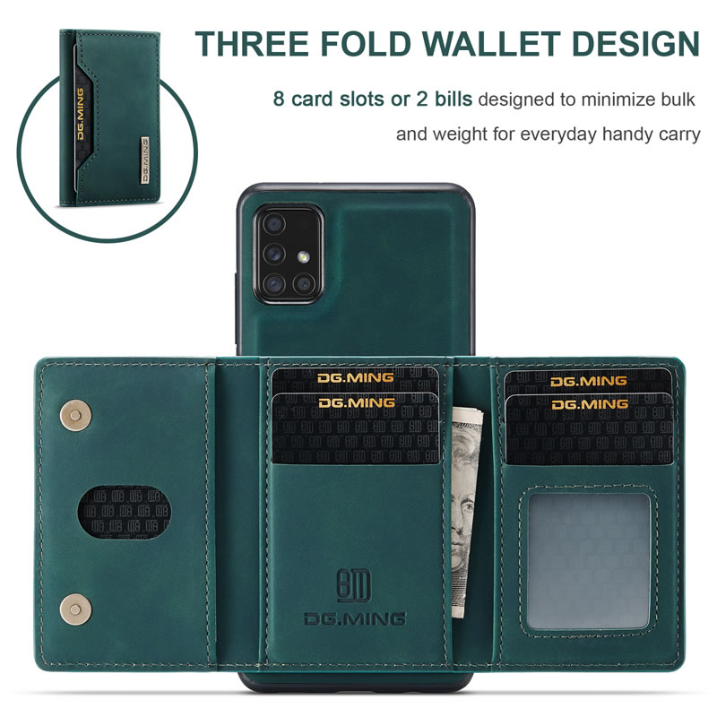 DG.MING Samsung Galaxy A51 Leather Wallet Case