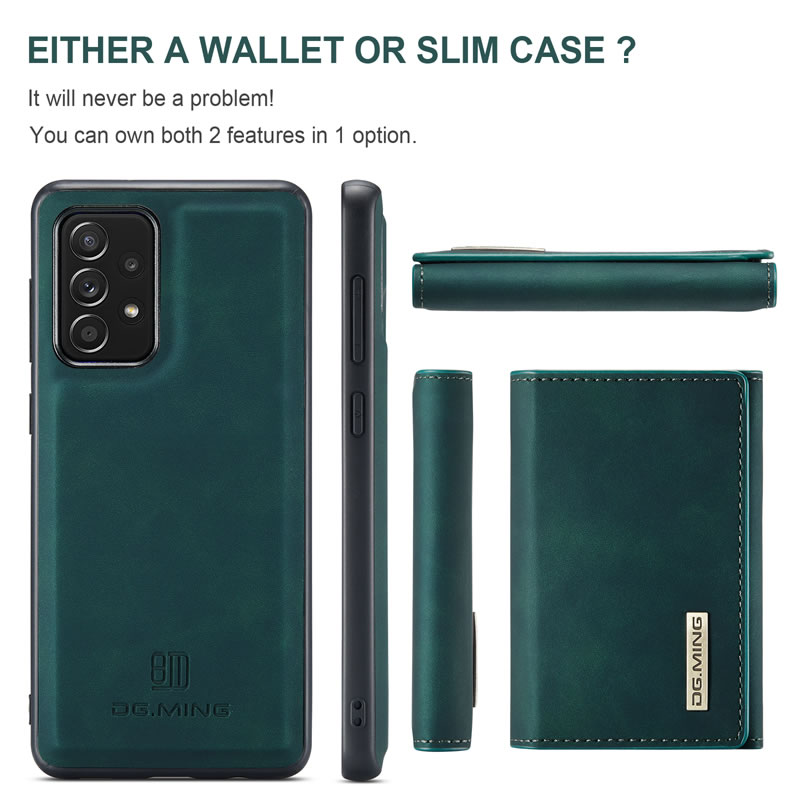 DG.MING Samsung Galaxy A72 5G Leather Wallet Case
