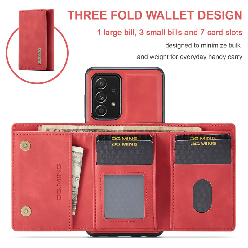 DG.MING Samsung Galaxy A52 5G Leather Wallet Case