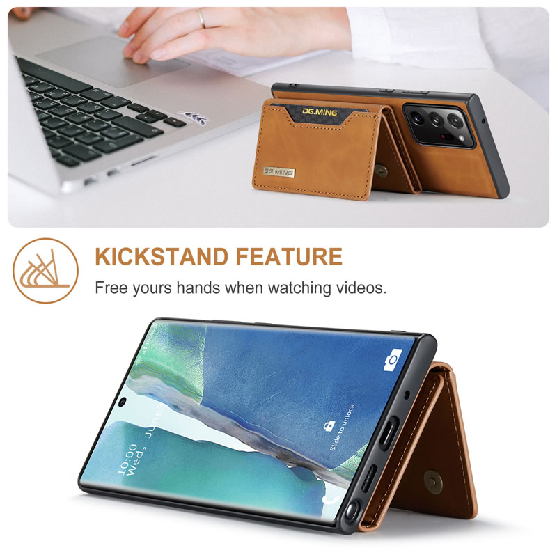 DG.MING Samsung Galaxy Note 20 Ultra Leather Wallet Case