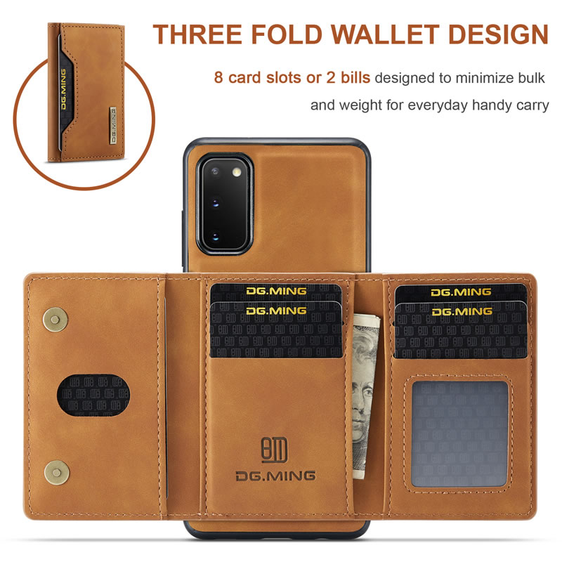 DG.MING Samsung Galaxy S20 Leather Wallet Case