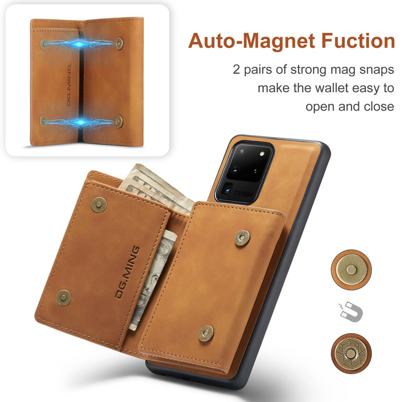 DG.MING Samsung Galaxy S20 Ultra Leather Wallet Case