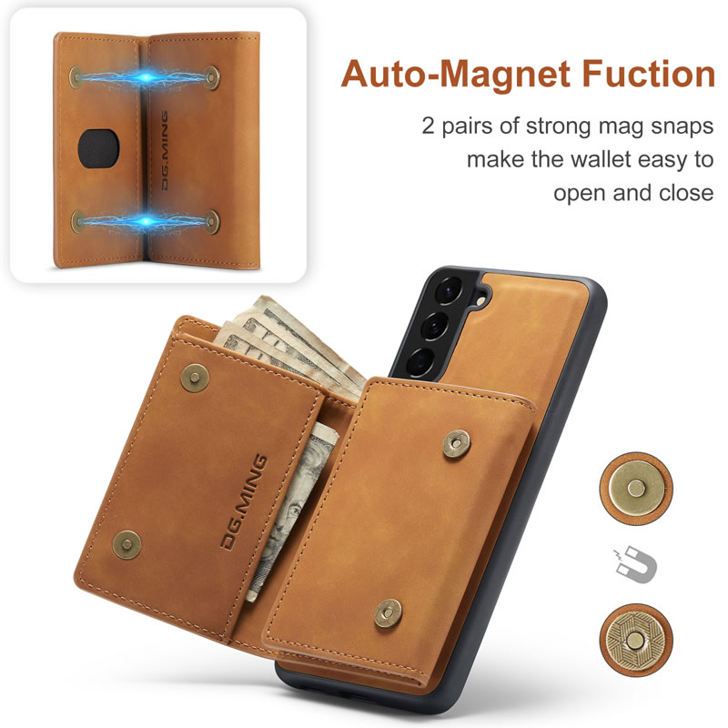 DG.MING Samsung Galaxy S21 Leather Wallet Case