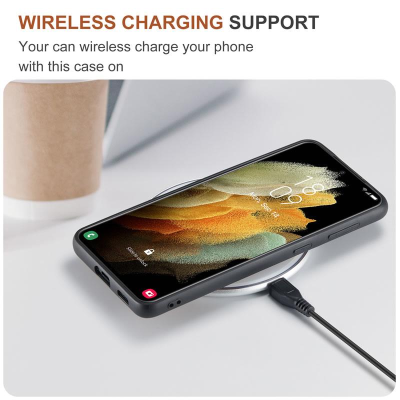 DG.MING Samsung Galaxy S21 Plus Leather Wallet Case