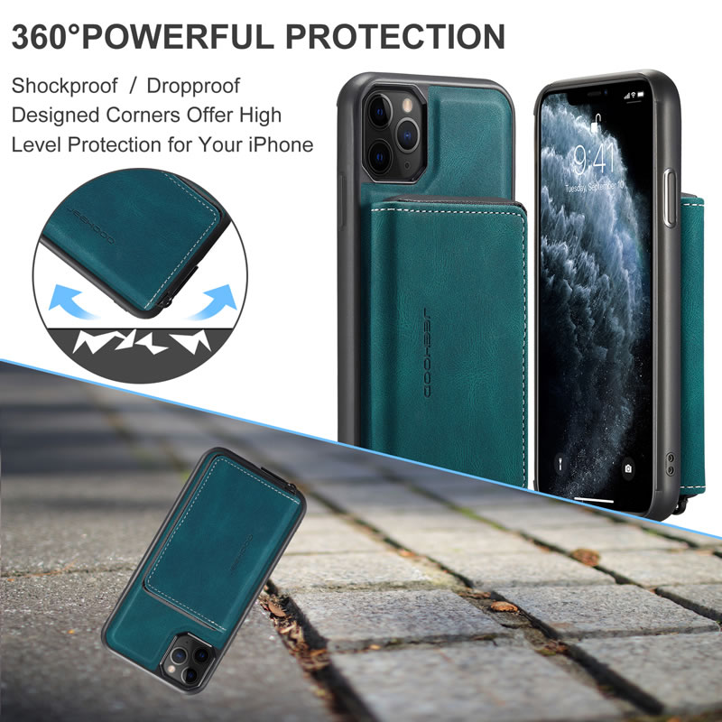 JEEHOOD iPhone 11 Leather Wallet Case