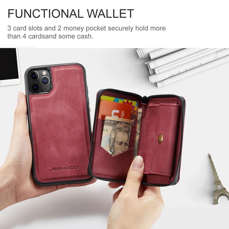 JEEHOOD iPhone 11 Pro Leather Wallet Case