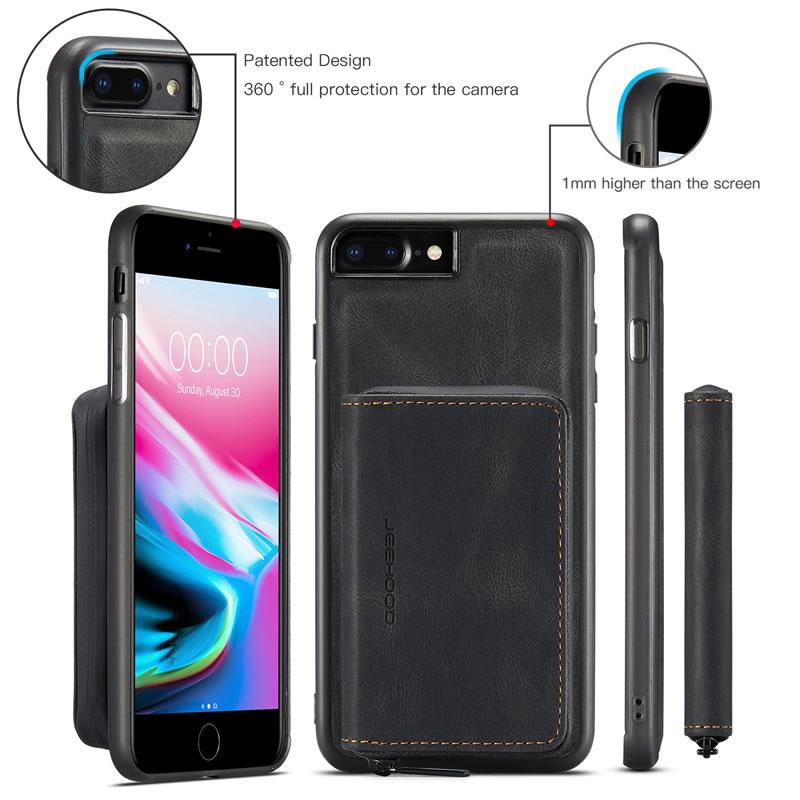JEEHOOD iPhone 8 Plus Leather Wallet Case
