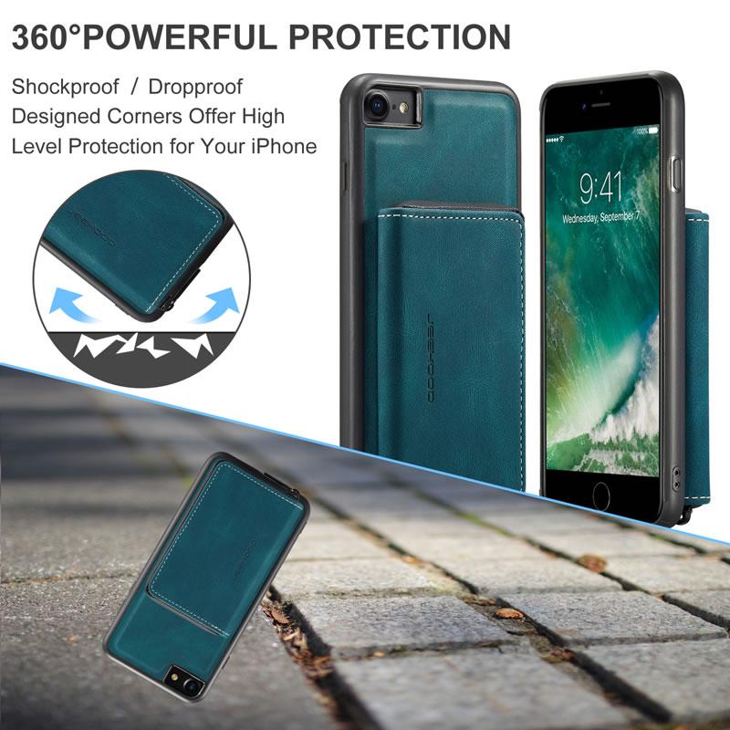 JEEHOOD iPhone 7 Leather Wallet Case
