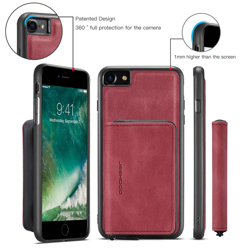 JEEHOOD iPhone 8 Leather Wallet Case